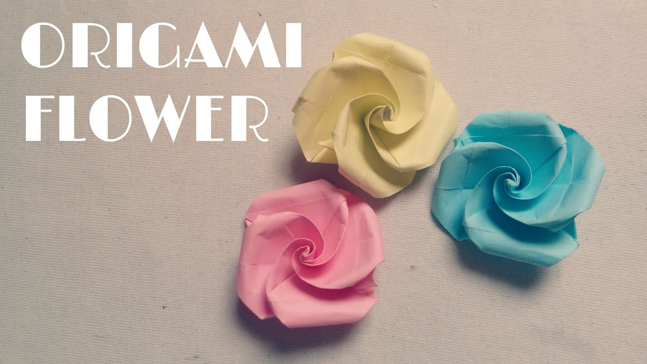 Origami Easy Origami Flower Tutorial Youtube