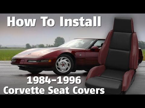 How to Install 1984-1996 Corvette Seat Covers - YouTube