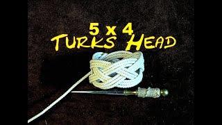 Turks Head 5 Bight 4 Lead - Tying a Turks Head Knot Using Your Fingers - Easy to Tie Turks Head