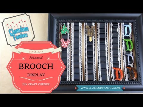 Framed Brooch Display