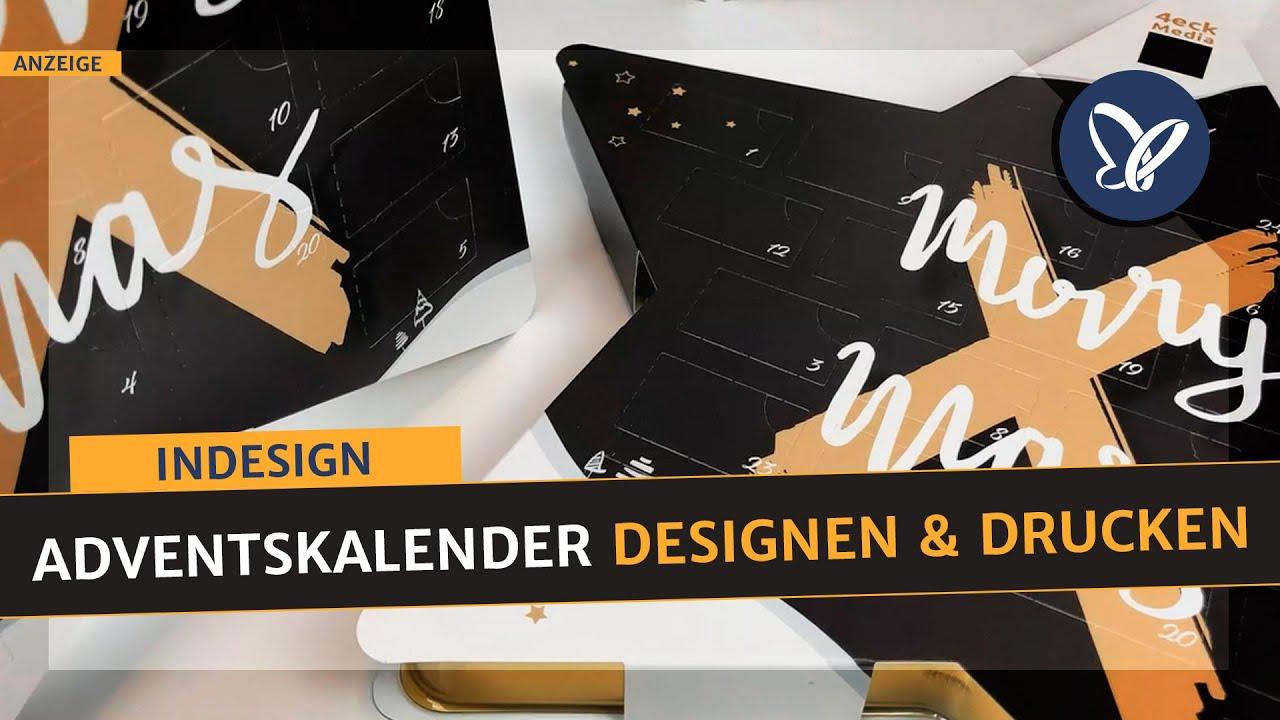 Indesign Tutorial Adventskalender Im Sternformat Designen Und Drucken Inkl Unboxing