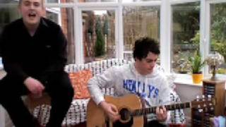 The Killers - Somebody Told Me (acoustic) Cover - Scott and Ben Official music video