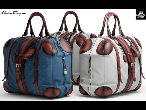 "№7. Bag Modeling ""Salvatore Ferragamo Bag"" в 3d Max и Marvelous Designer"