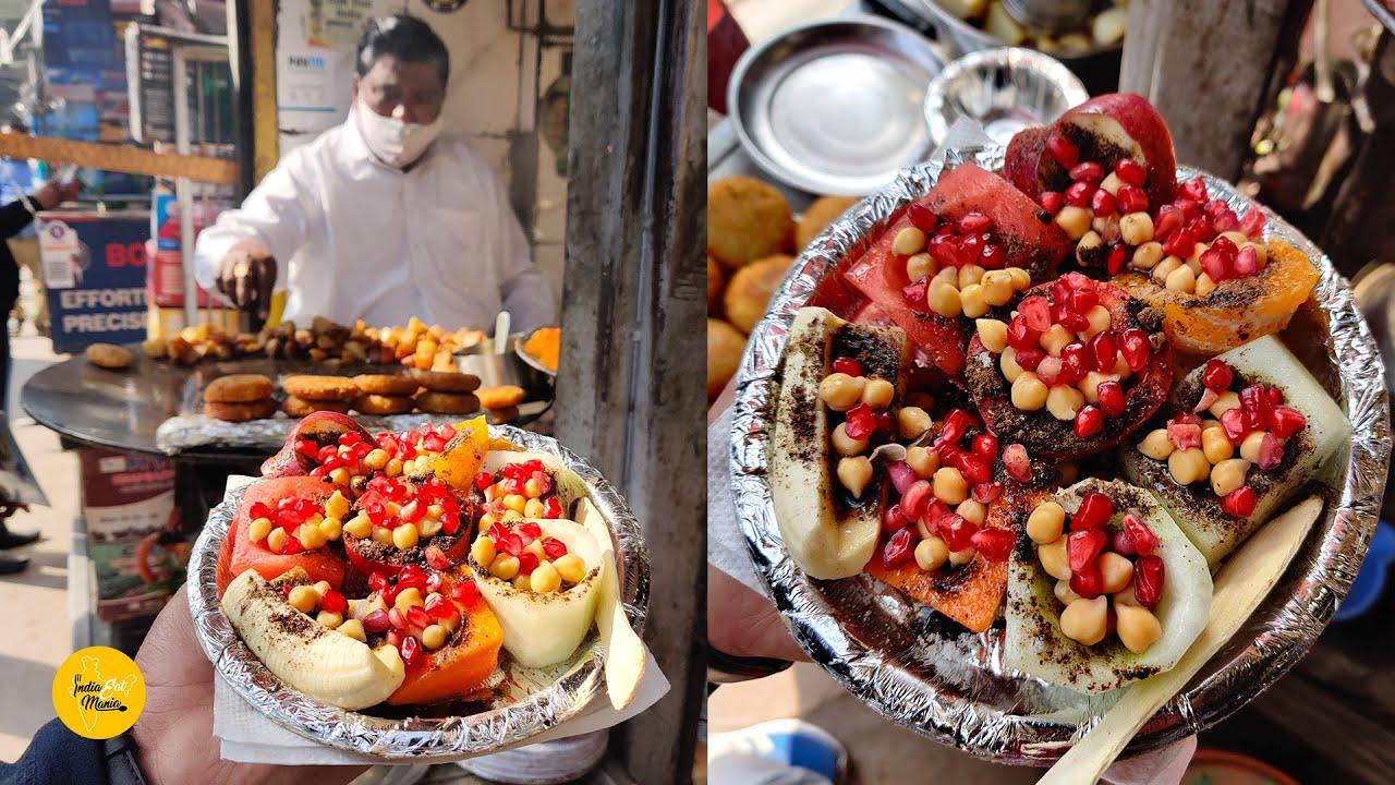 Download Purani Delhi Famous Kuliya Ki Fruit Chaat Rs. 100/- l Hira Lal Chat Corner l Indian Street Food