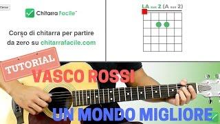 UN MONDO MIGLIORE - VASCO ROSSI (Tutorial Chitarra, Accordi e Ritmica)