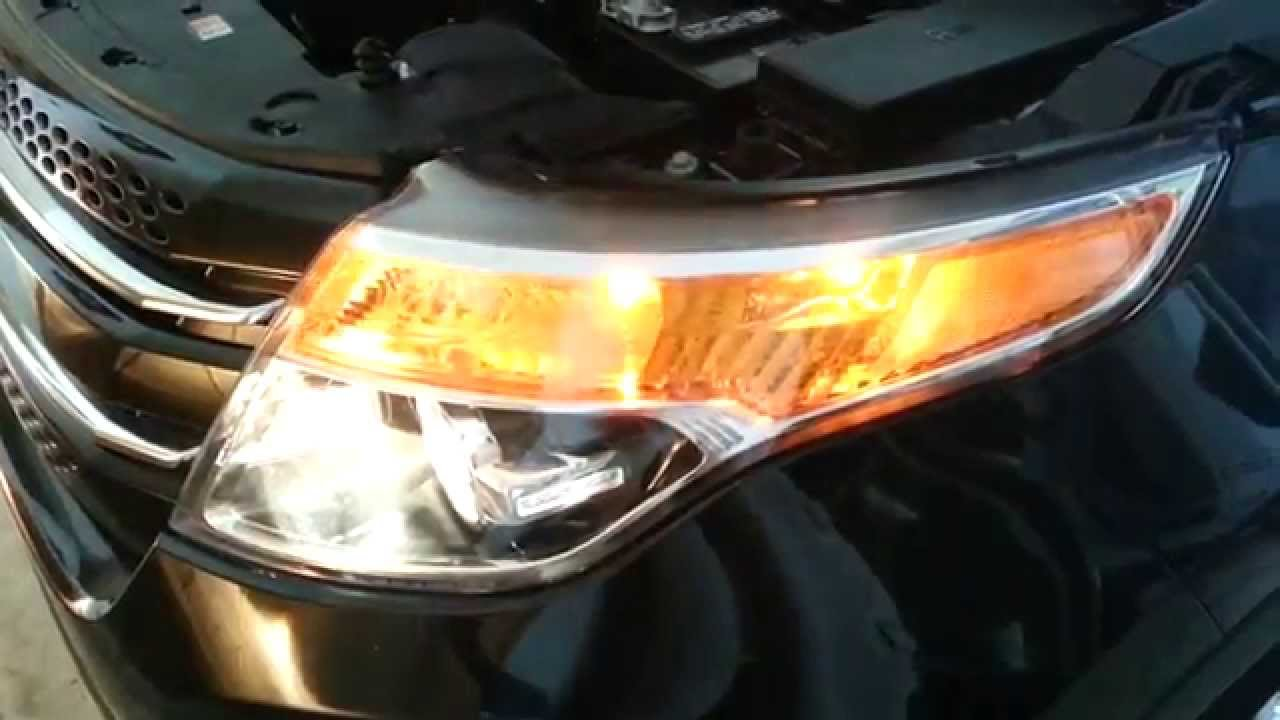 2014 Ford Explorer Headlight Assembly - Testing Bulbs  High Beam  Turn Signal  U0026 Side Marker