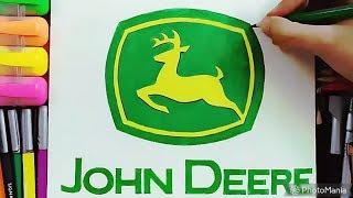 How to Draw the John Deere Logo - John Deere Tractors