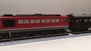 TOMIX HO-203 DF50 形(朱色 後期型)+ 旧型客車 連結 回送運転