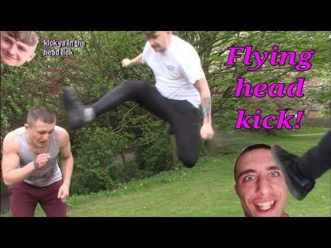 Flying head kick! - vallentedunn