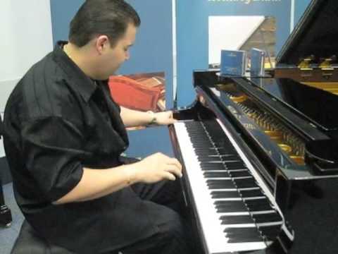 Keyboard Magazine NAMM 2009: Ryan Ahern at Bechstein Pianos