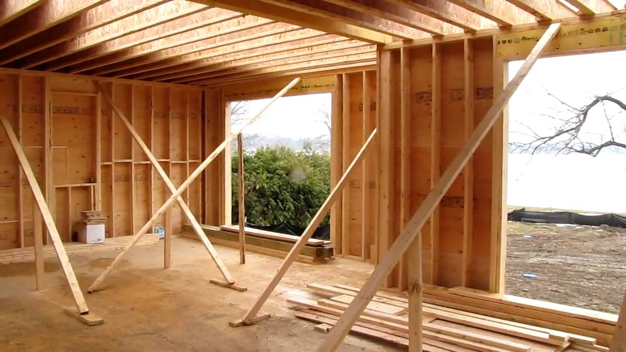Custom home framing 2nd floor youtube for How to build a floor for a house