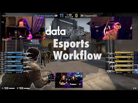 Datavideo ESports Workflow | MGL Military Gaming League | Fortnite
