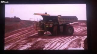 drifting dump truck