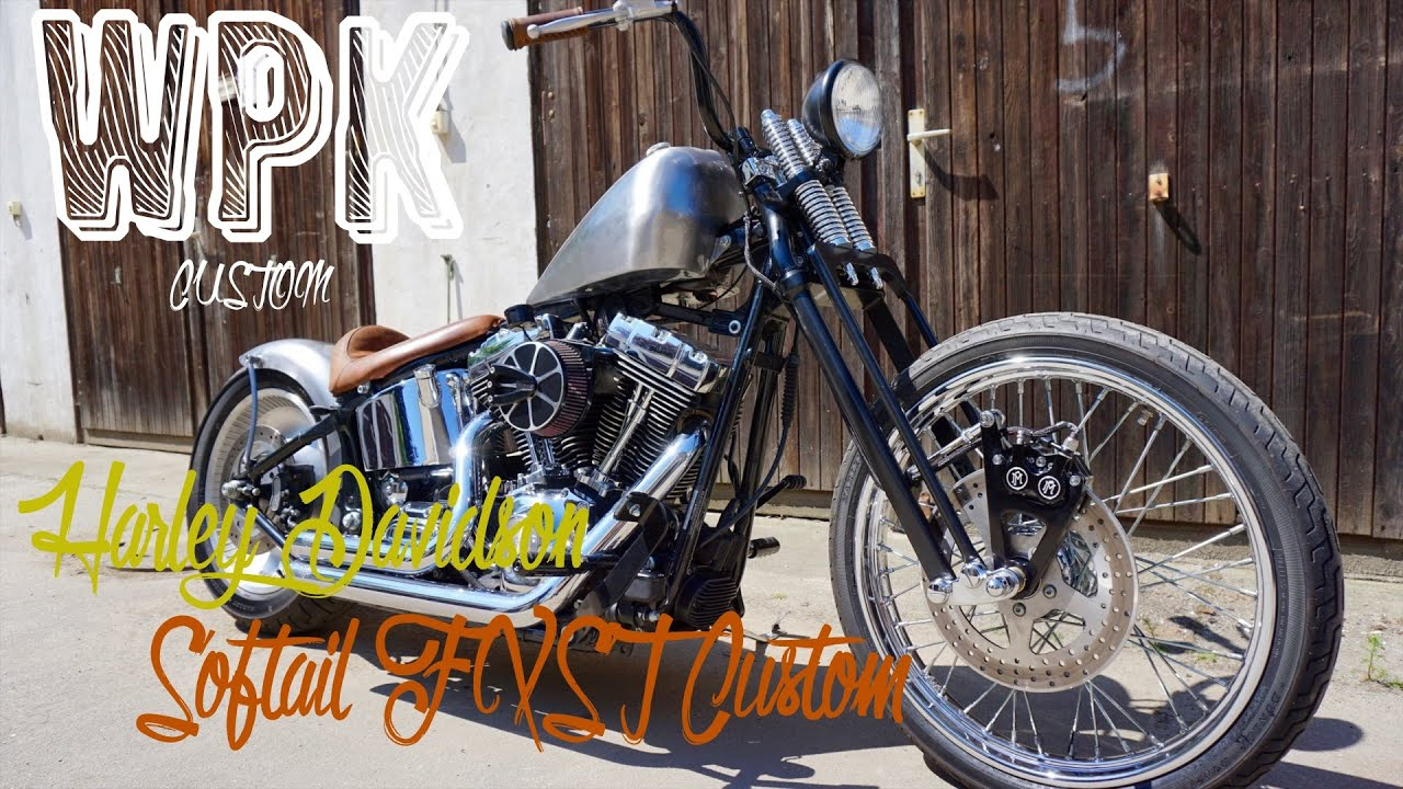 harley davidson softail fxst custom umbau bobber chopper. Black Bedroom Furniture Sets. Home Design Ideas