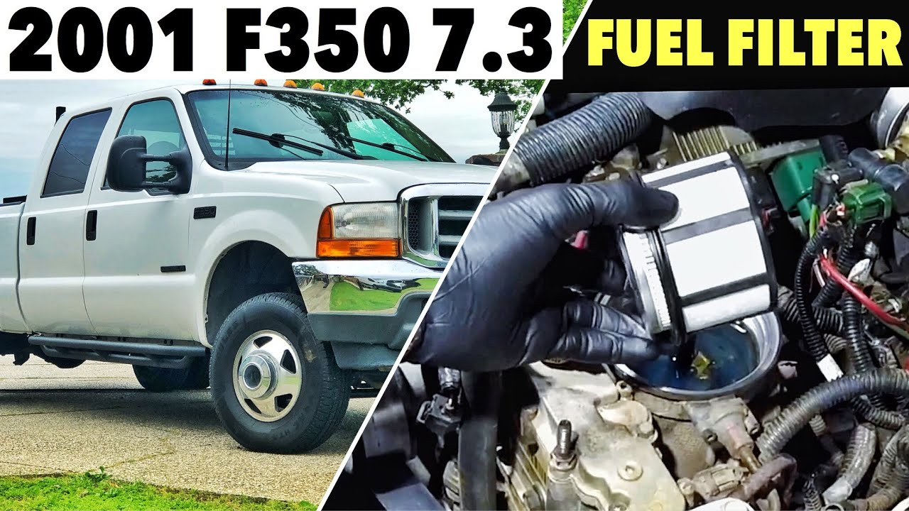 2001 Ford F350 7 3 Powerstroke - Changing The Fuel Filter - Got Some Complications