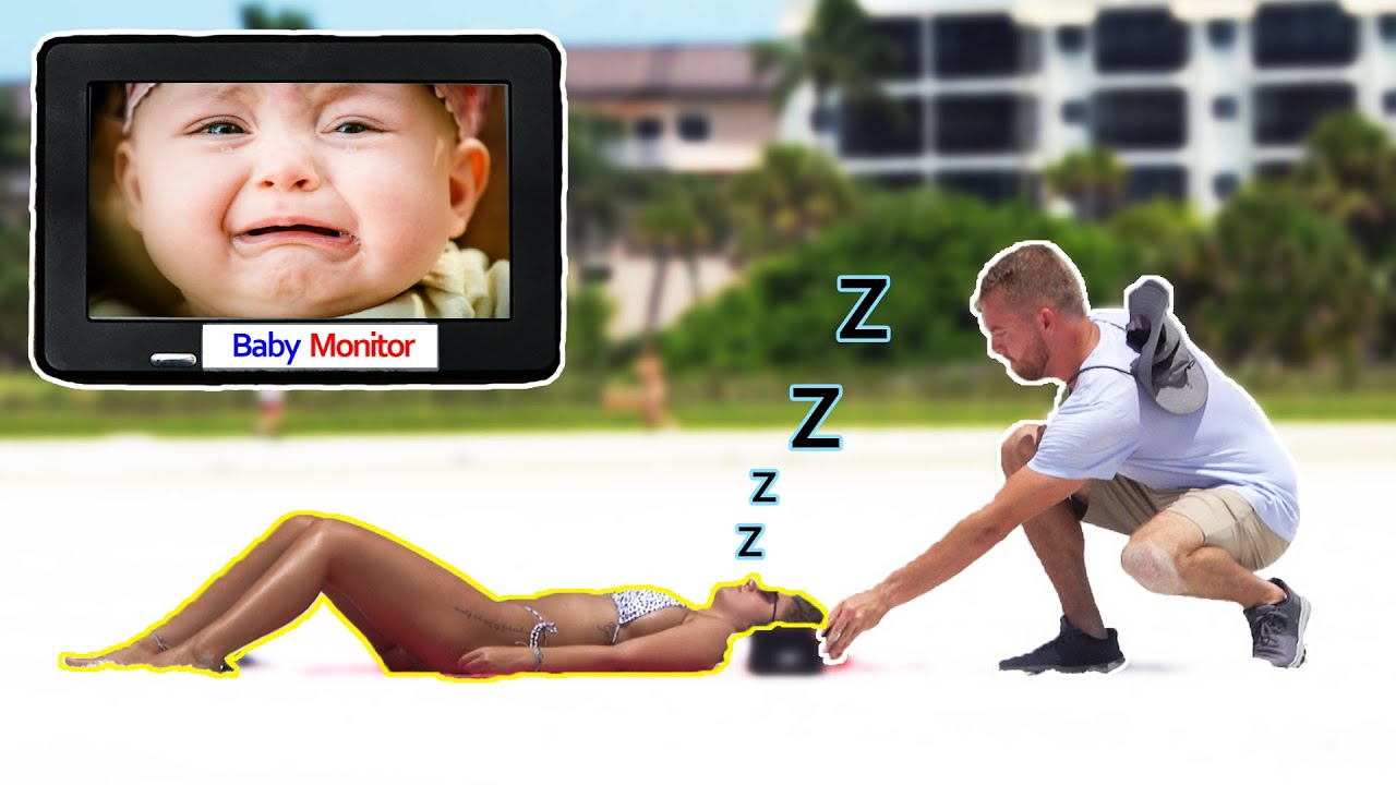 Putting a Baby Monitor Next to People Sleeping on the Beach