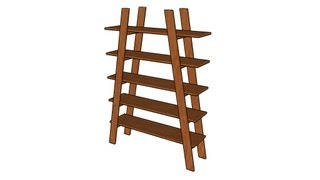 How To Build Ladder Shelves