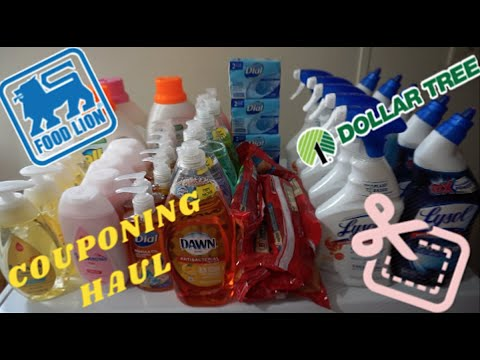 Dollar Tree Food Lion and Rose's Haul | COUPONING DEALS | EXTREME COUPONING