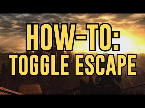 How to: Toggle Escape in Dark Souls Remastered (PvP Tech)