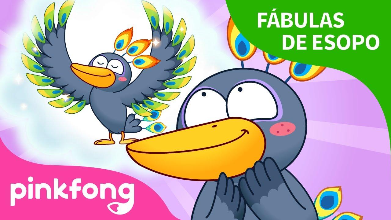 El Cuervo y el Pavo Real | Fábulas de Esopo | Pinkfong Cuentos Infantiles