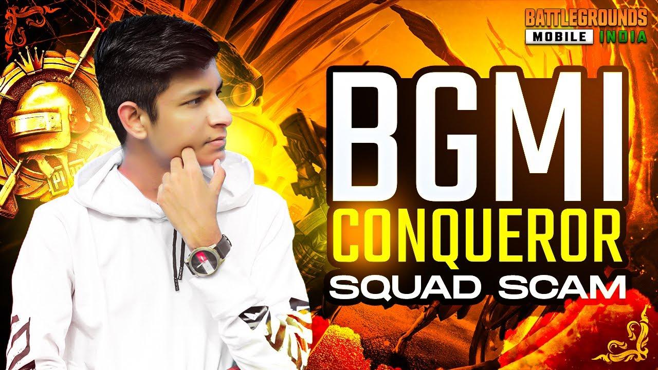 😤 BGMI CONQUEROR Squad Scam - BATTLEGROUND Mobile - Legend X