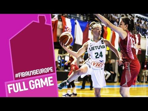 Lithuania v Hungary - Full Game - R 16 - FIBA U16 Women's European Championship 2016