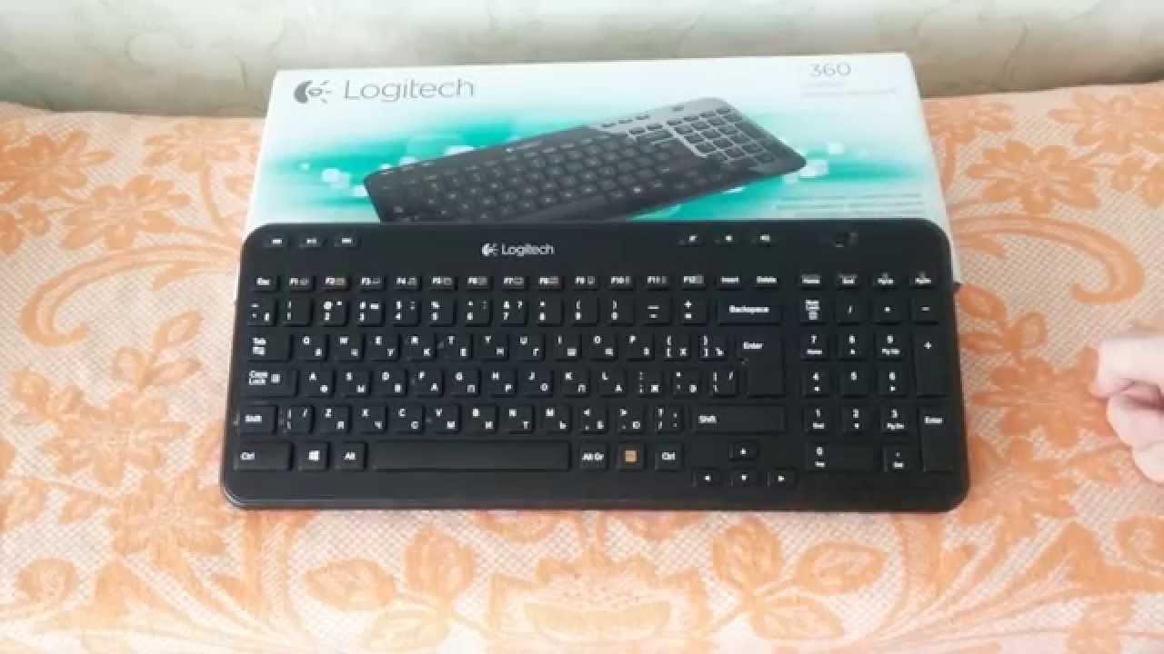 Обзор клавиатуры Logitech K810 - YouTube