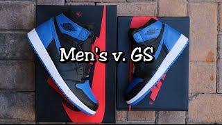 Men's v  GS Comparison - Air Jordan 1