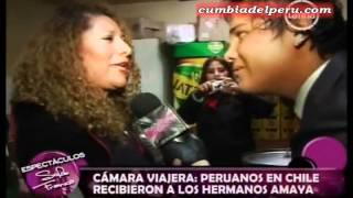 Sofia Franco: Peruanos en Chile recibieron a Los Hermanos Amaya [27-06-2012]