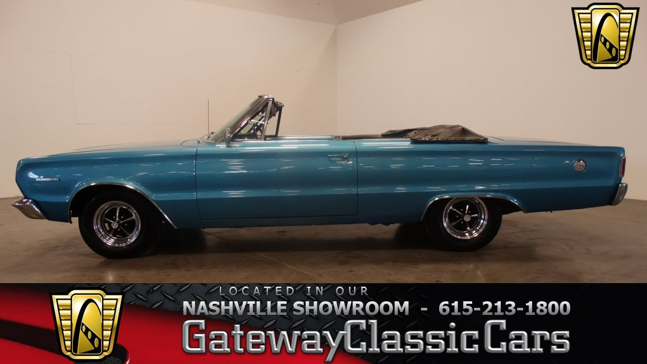 1967 Plymouth Belvedere Convertible Gateway Clic Cars Nashville 334 You