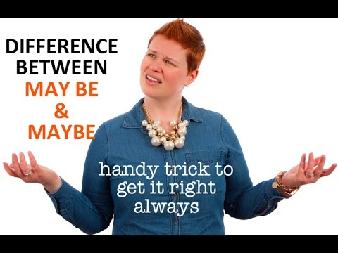 LEARN ENGLISH -Trick to remember the difference between may be & maybe   ESL