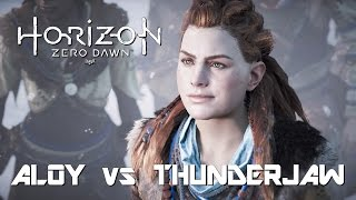Horizon Zero Dawn First Thunderjaw Kill PS4Pro 1080p Enhanced Graphics Options