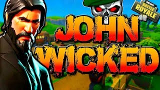 Fortnite Battle Royale New John Wick Skin Gameplay! RAREST Skins in Fortnite br! (The Reaper)