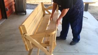Dean's convertible picnic table/bench