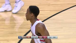 DeMar DeRozan Punches Home the One-Handed Putback Slam