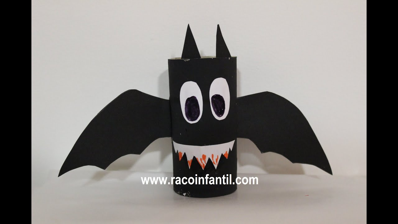 Ideas Para Halloween Murciélago Rollo Papel Www Racoinfantil Com Youtube