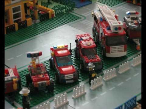 Lego City Fire Department parade