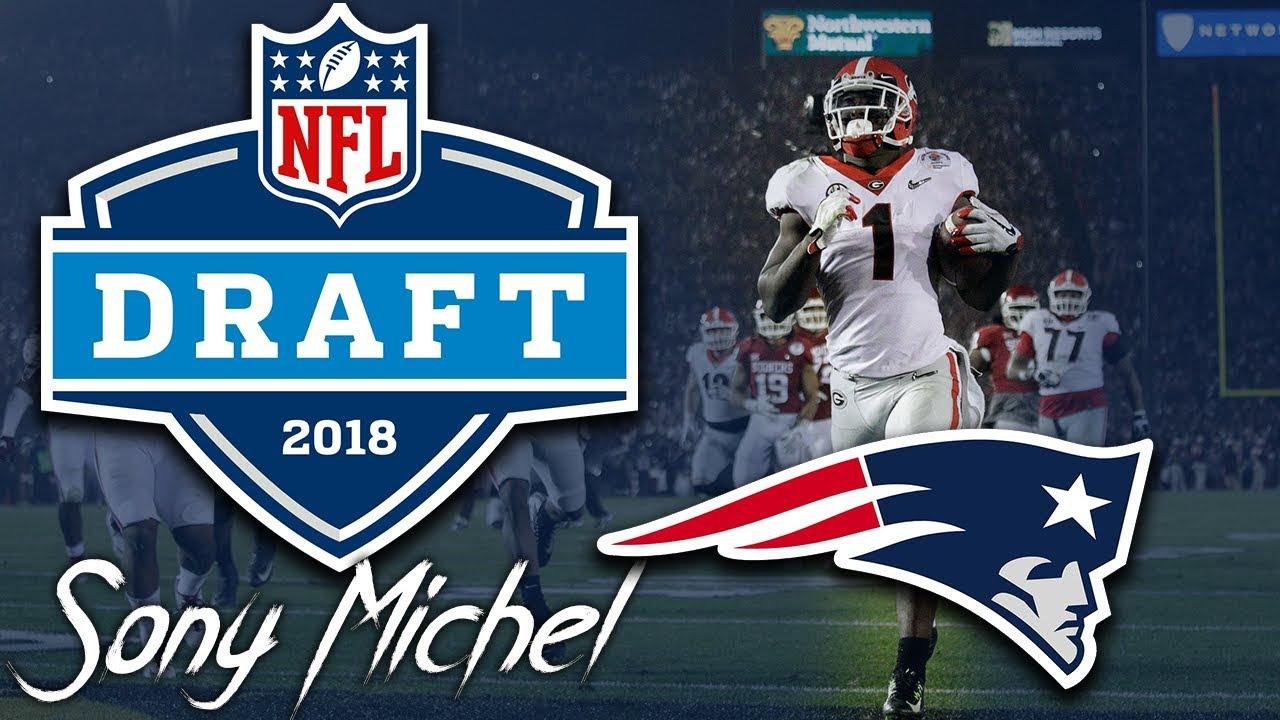 new product 350f7 906f5 Patriots Draft RB Sony Michel | 1st round | pick 31 | 2018