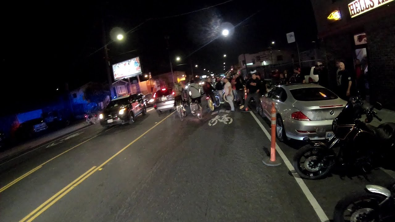 Police & Cyclists at Hells Angels Clubhouse Oakland
