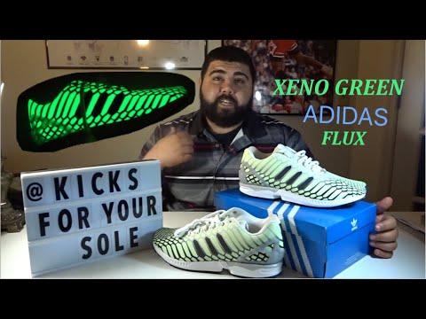 best authentic 064ba 6c201 Adidas ZX Flux Xeno Green (HD)