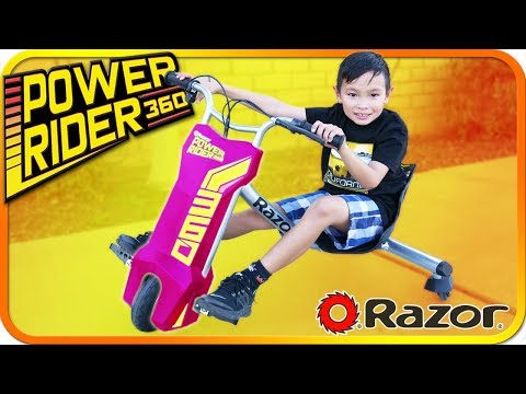 Unboxing RAZOR Power Wheels Rider 360 From Toys R Us, Kids Toys Review - TigerBox HD