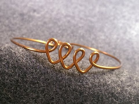simple wire bracelet for beginners - handcrafted copper jewelry 2