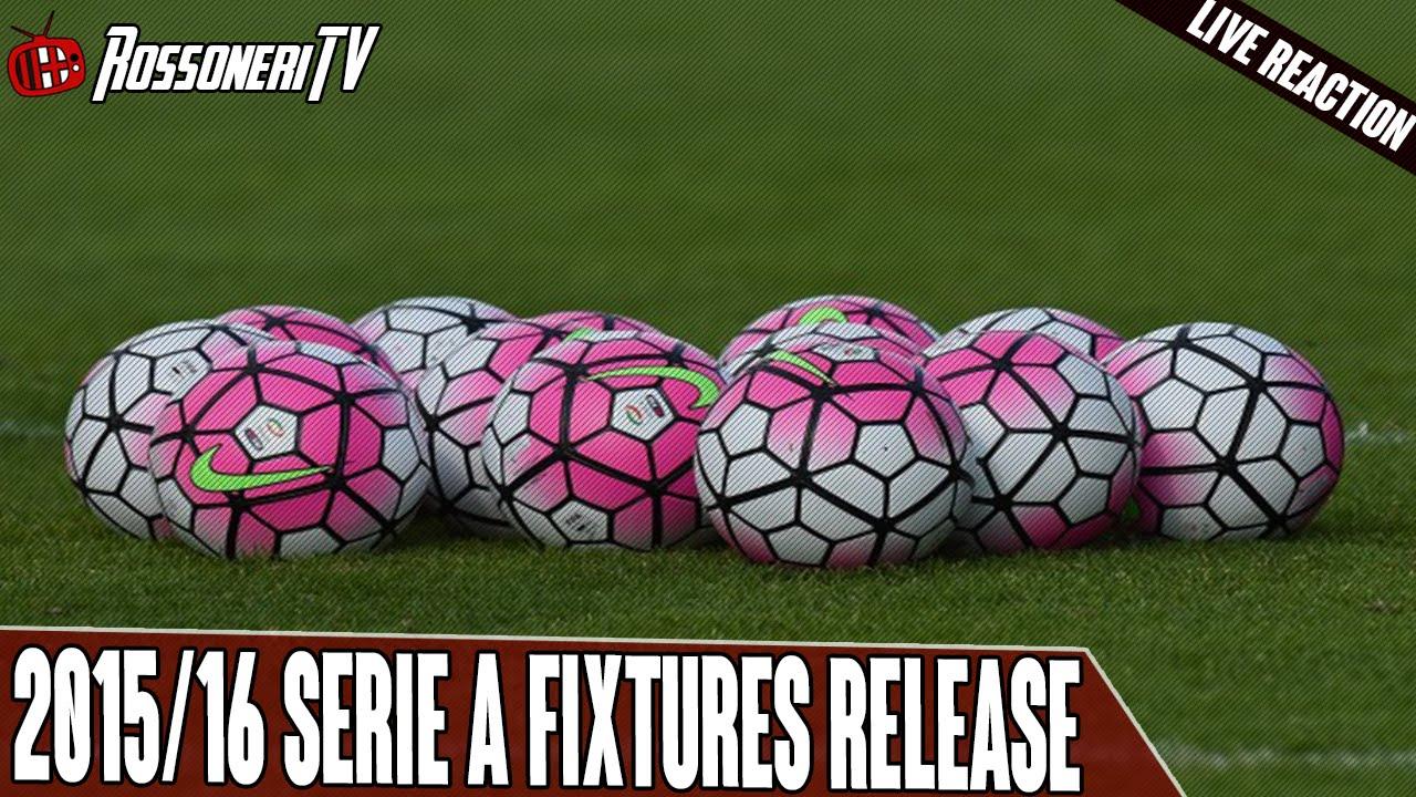 Serie A Fixtures 2021/17