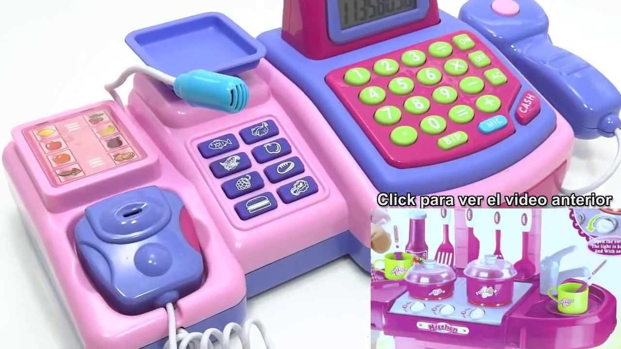Cajas registradoras de juguete para ni as calculadora real - Caja registradora juguete ...