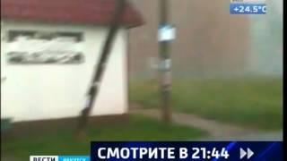 Небывалый шторм обрушился на Байкальск и Слюдянку