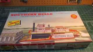 Lindberg Southern Belle 1/64 Scale Paddlewheel Model Kit Very nicel...