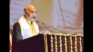 President Kovind addresses 7th convocation of Babasaheb Bhimrao Ambedkar University