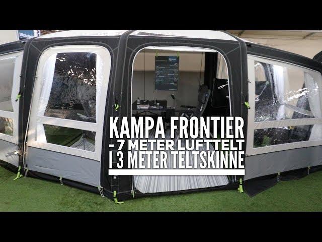 Kampa Frontier 7 meter telt på 3 meter skinne