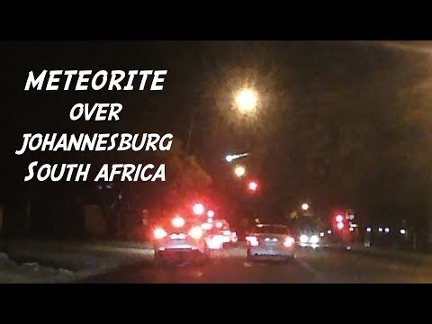 Meteorite Over Johannesburg South Africa 15-06-2017