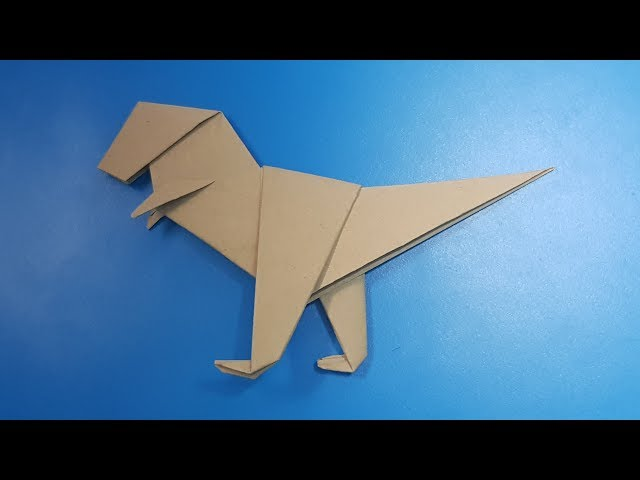 Origami art - Gấp Khủng Long Tyrannosaurus T-Rex #2    Easy Origami Dinosaur Tyrannosaurus